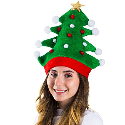 Christmas Hat - Adult Christmas Tree Hat - Novelty Hats Funny Party Hats