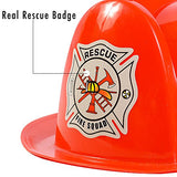 Dress Up Hats for Kids - Role Play Police and Fireman Hat with Light By Funny Party Hats
