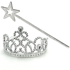 Princess Dress Up Set - Tiara & Wands - Princess Costume Accessories for Girls by Funny Party Hats