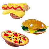 Food Hats - Pizza Hamburger Hot Dog Costume Party Dress Up - Chef Hat by Funny Party Hats