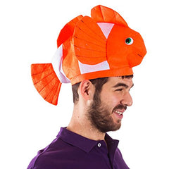 Fish Hat - Clown Fish Hat - Ocean Animal Hats - Sea Animal Hats - Costume Hats by Funny Party Hats