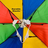 Funny Party Hats Umbrella Hat - Fishing Umbrella Hat for Kids and Adults - Elastic, Rainbow Colors by (Umbrella Hat)