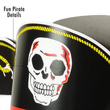 Funny Party Hats Pirate Party Hats - 12 Pack - Pirate Party Supplies - Pirate Birthday Hat