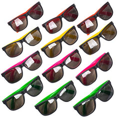 Funny Party Hats Sunglasses in Bulk - Neon Party Sunglasses - Party Favors - Neon Party Supplies