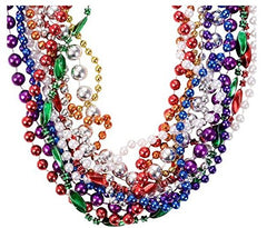 Funny Party Hats Mardi Gras Beads - Mardi Gras Necklaces - Mardi Gras Party - Beaded Necklaces