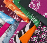 Assorted Bandannas - 15 Bandanas - Assorted Colors Bandana Scarf by Funny Party Hats
