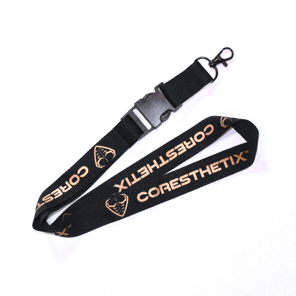 CORESTHETIX Lanyard - Gold/Black