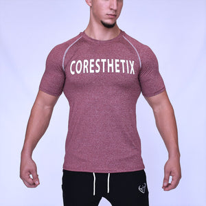 CORE-FIT™ Active Top - Fishtail Cut - DARK RED
