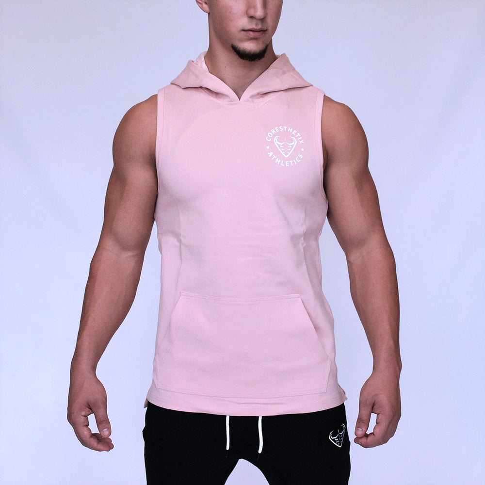 CORE-FIT™ Fishtail Sleeveless Pullover Hoodie - ROSE