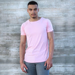 CORE-FIT™ Scoop Neck - Curved Hem - MILLENNIAL PINK
