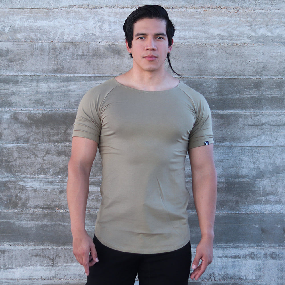 CORE-FIT™ Scoop Neck - Curved Hem - OLIVE