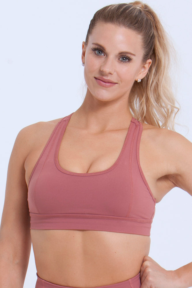 Essentials: Sports Bras - DUSTY ROSE