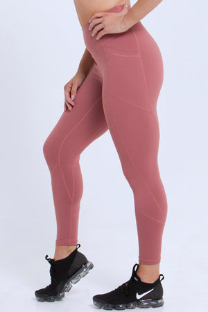 Essentials: Leggings - DUSTY ROSE