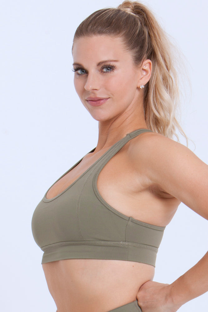 Essentials: Sports Bras - OLIVE