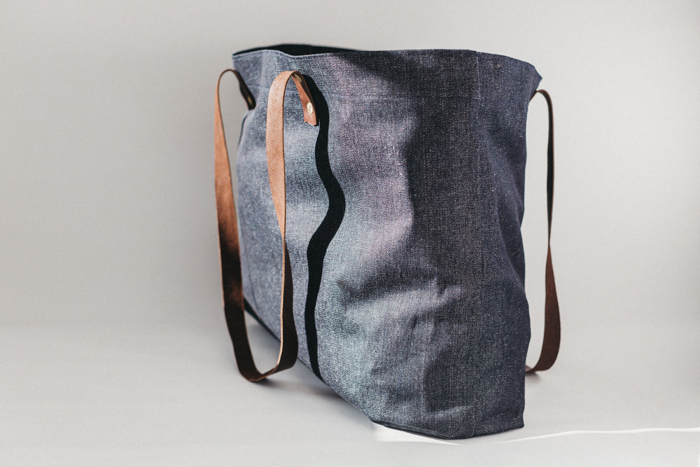 Denim Beach Tote