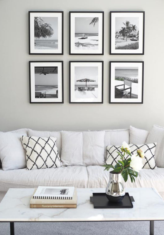 Framed Gallery Walls Symmetrical -6 frames Large
