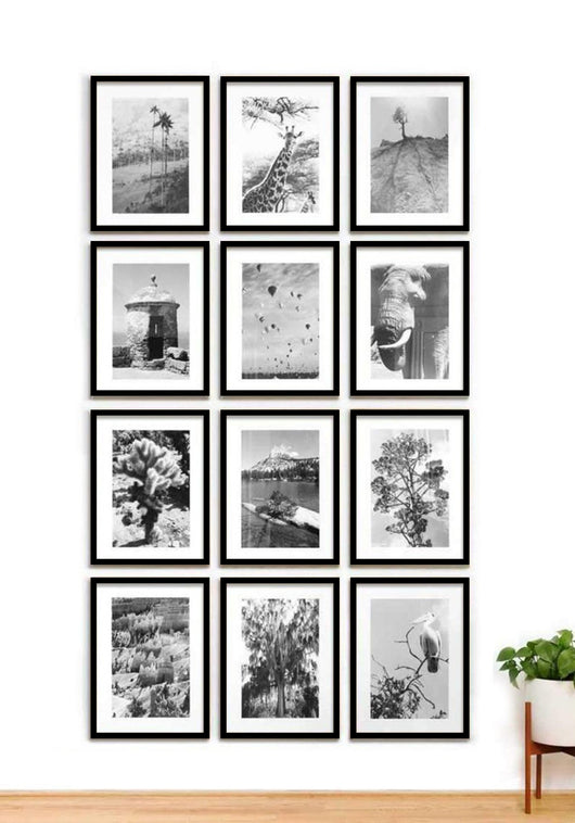 Framed Gallery Walls Grid-12 frames