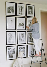 Framed Gallery Walls Symmetrical -12 frames