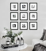 "Framed Gallery Walls "" 9 squared"" -Small"