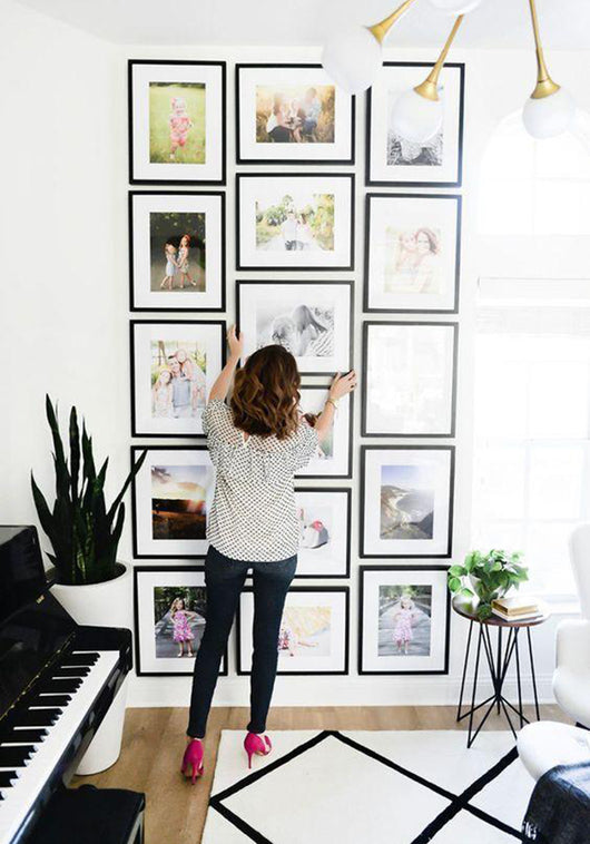 Framed Gallery Walls Symmetrical -15 frames