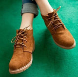 Vintage Casual Shoes, Women Fashion Motorcycle Boots, Classic Creepers