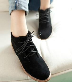 Vintage Casual Shoes, Women Fashion Motorcycle Boots, Classic Creepers - Selective Girl