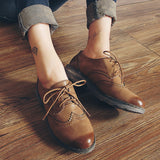 FLAT Oxford Shoes Woman Autumn Flats Fashion Brogue Oxford Women Shoes
