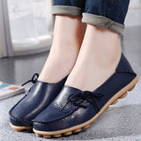 Genuine Leather Women shoes Mother shoes Girls lace-up fashion casual shoes Comfortable Breathable Women flats