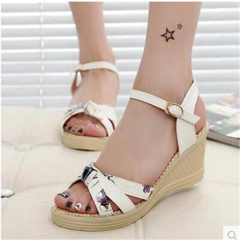 Casual Women's shoes Summer style  female sandals High Platform Wedges Platform Open Toe Platform