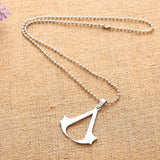 Fashion Silver chain Unisex Necklaces Jewelry Slippy Bat Batman Sign Pendant Stainless Steel Pendant with Chain Necklace
