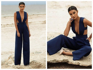 Sexy Night Club wear Hollow Out Elegant Party Wear Jumpsuits