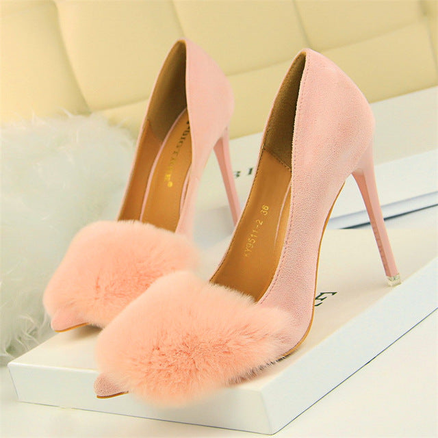 Wedding Shoe Thin Sexy Party Shoes Pointed Toe