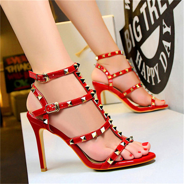 Retro Rivets Open Toe Women Sandals
