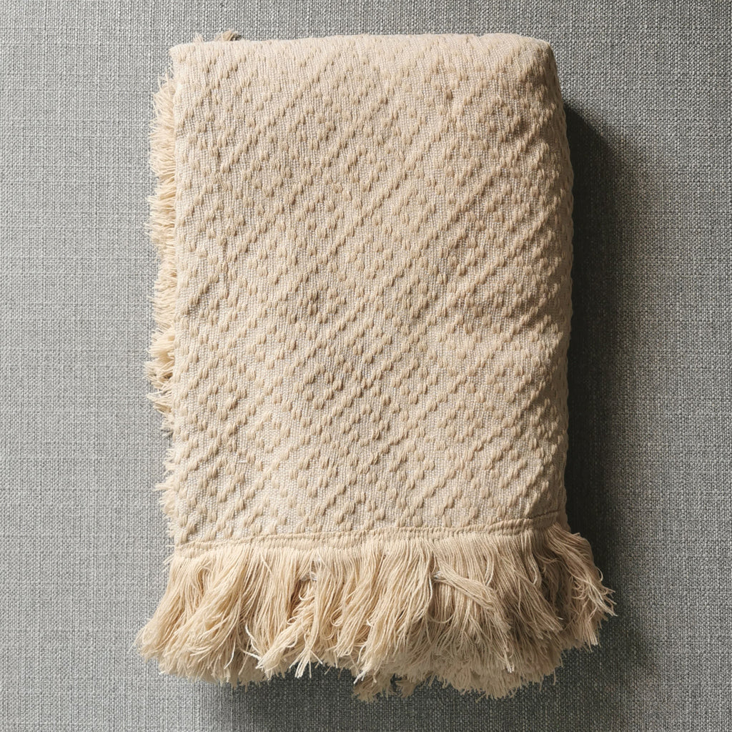 Bayanihan Throw Blanket (Beige)