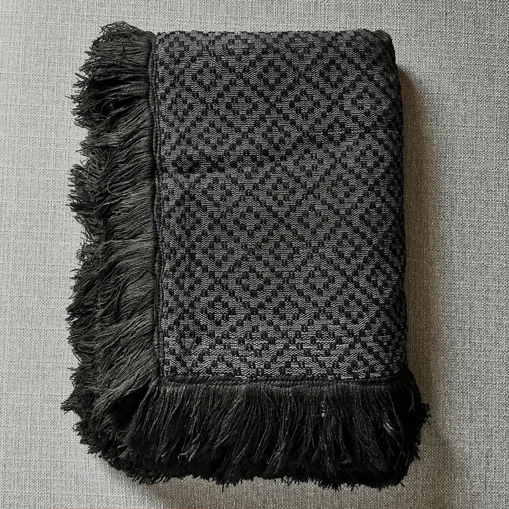 Bayanihan Throw Blanket (Black)