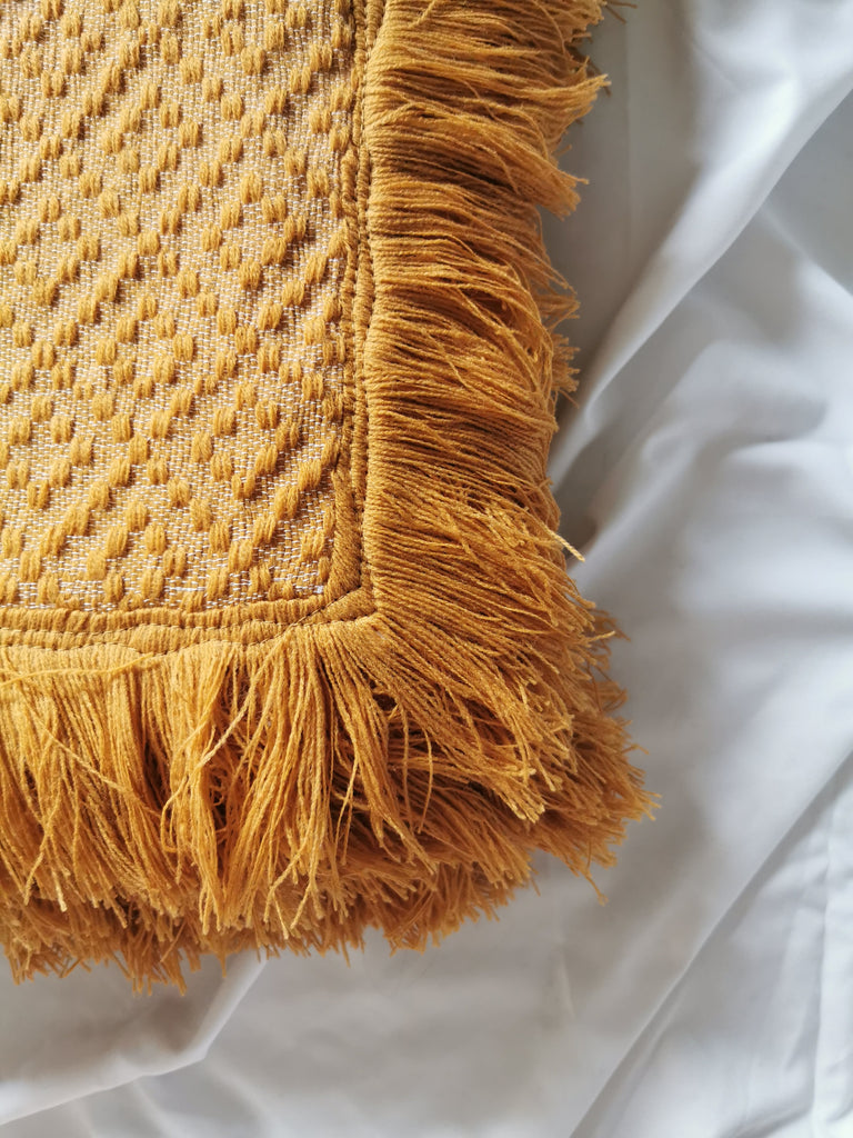 Bayanihan Throw Blanket (Mustard)