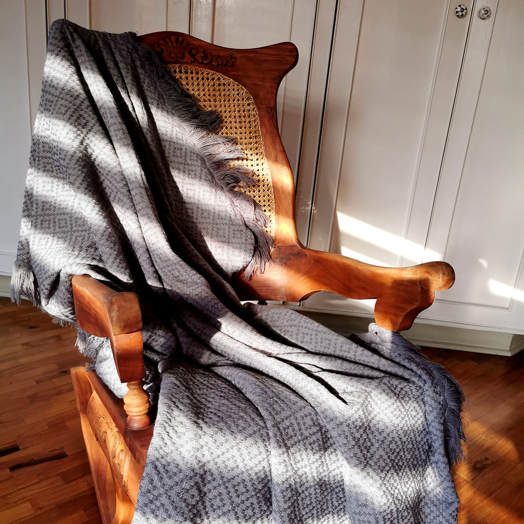 Bayanihan Grey Throw Blanket
