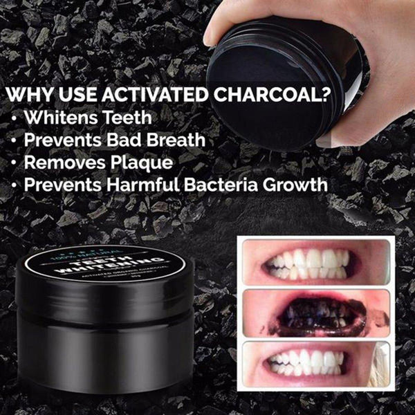100% Natural Charcoal Teeth Whitening Powder - Creation 9