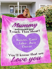 Customized Cozy Plush Fleece Blanket with Nickname & Kids Names-BUY 2 SAVE 10%