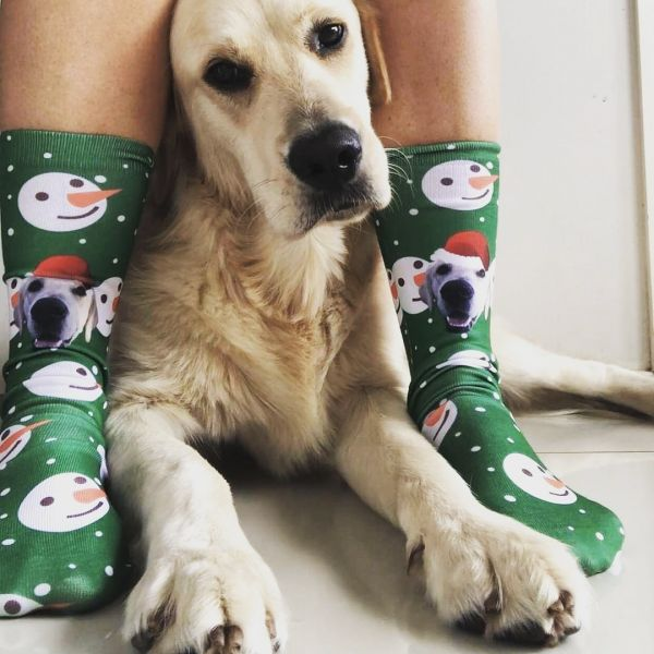 Custom Christmas Socks With Your Pet's Face