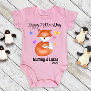 Custom Fox Mother's Day Cozy Plush Fleece Blankets