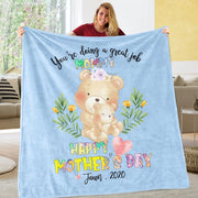Custom Name Animal Cozy Plush Fleece Blankets