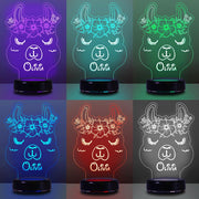 Custom Name Night Lights for Kids Alpaca