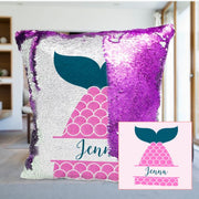 Custom Mermaid Sequin Pillow with Inner