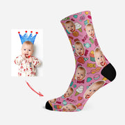 Custom Photo Socks Personalized Pet Face Socks Ice Cream & Candy