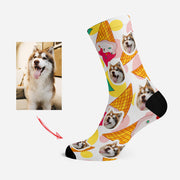 Custom Socks for Pet Lovers Funny Socks Strawberry Ice Cream