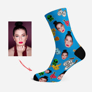 Custom Photo Socks Personalized Face Socks UFO