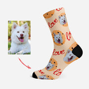 Custom Socks with Your Pet's Face Personalized Funny Socks Love