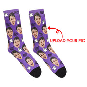 Custom Boo Socks - Halloween Gifts / Custom Socks / Halloween Gifts / Personalized Socks With Photo / Custom Sock