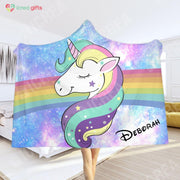Personalized Miraculous Unicorn Hoodie Blanket